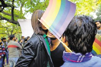 Activists protest the Supreme Court's verdict on Section 377 in December 2013. Photo: Pradeep Gaur/Mint