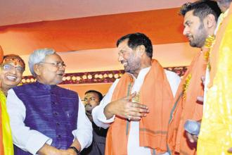 Nitish Kumar's demand for a special status for Bihar was also echoed by union minister and LJP chief Ram Vilas Paswan. Photo: PTI