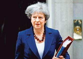 A file photo of British prime minister Theresa May. Photo: Reuters
