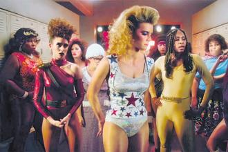 A still from the second season of 'GLOW'.