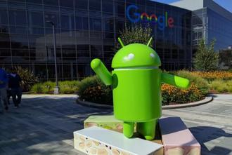 Android Nougat statue at Google campus in Mountain View, California. (Photo: Associated Press)