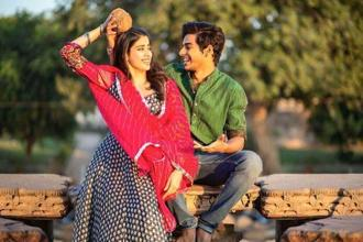Jahnvi Kapoor and Ishaan Khatter in a still from Bollywood film 'Dhadak'.
