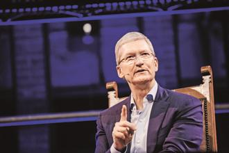 Apple CEO Tim Cook. Apple results beat Wall Street expectations Photo: Bloomberg