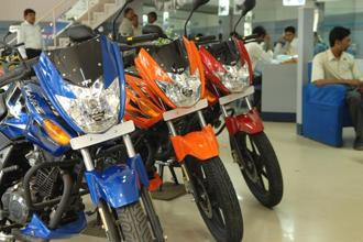 TVS Motor's overall two-wheeler sales, including exports, rose 14%, with motorcycle sales outpacing scooter sales. Photo: Mint