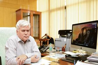 R.S. Sharma, outgoing chairman of the Telecom Regulatory Authority of India (TRAI). Photo: Ramesh Pathania/Mint
