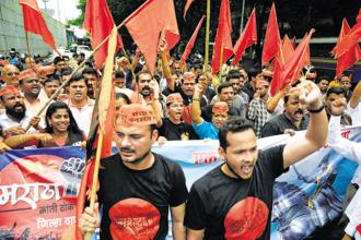 Marathwada and Western Maharashtra as well as Navi Mumbai and Thane near Mumbai had witnessed maximum violence during the Bandh called by Maratha organisations last month. Photo: Mint file