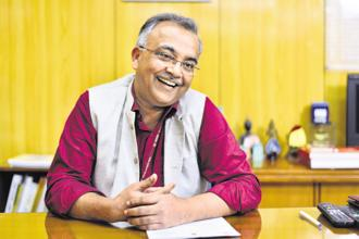Rural development secretary Amarjeet Sinha. Photo: Pradeep Gaur/Mint