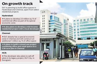 In Chennai, DLF already has a special economic zone (SEZ) and will construct an additional 1 million sq. ft of office space. Graphic: Mint