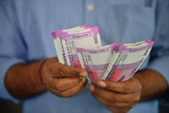 The rupee (INR) fell to 70.08 per US dollar (USD) at day's low.
