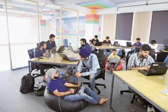 Start-up Share Chat's language team. Photo: Mint