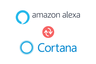 "The integration allows the user to perform commands like ""Alexa, open Cortana""."