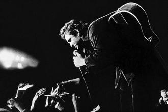 Johnny Cash on stage. Photo: Alamy