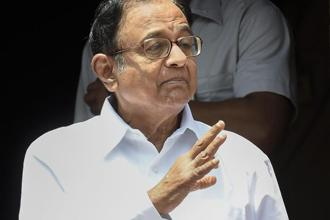 Former FM P. Chidambaram. According to back series calculations, the Indian economy grew in double digits twice—10.23% in 2007-08 and 10.78% in 2010-11—during the UPA regime. Photo: PTI