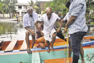 Around 7.5 lakh people have been displaced in the Kerala floods. Photo: HT