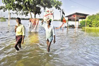 Kerala floods have so far killed around 420 people. Photo: HT