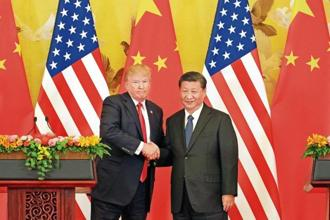 US president Donald Trump and his Chinese counterpart Xi Jinping.