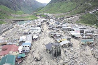 The Kedarnath landslide in Uttarakhand in June 2013 has been identified as the most tragic. AFP