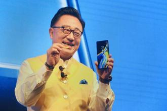 Samsung CEO DJ Koh at the Note 9 India launch event. Photo: AP
