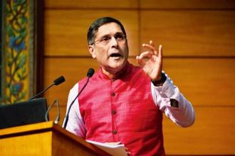 Former chief economic adviser Arvind Subramanian has been a quite a vocal advocate of Universal Basic Income in India. Photo:  Pradeep Gaur/Mint