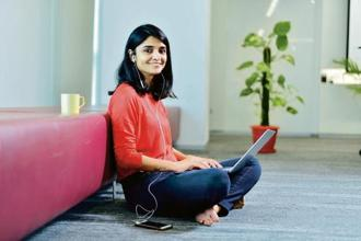 Yashica Verma says technology helps her to work from home. Photo: Pradeep Gaur/Mint