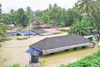 On the back of two weeks of incessant rain, for the single 24-hour period starting 15 August, many weather stations in Kerala recorded 300-400mm of rain. Photo: PTI