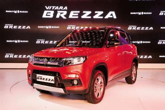 Sales of utility vehicles, including Vitara Brezza, S-Cross and Ertiga, were down 16.2% at 17,971 units in August as compared to 21,442 units in the year-ago month, MSI said. Photo: Ramesh Pathania/Mint
