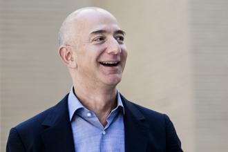 Amazon CEO Jeff Bezos. Amazon rose as much as 1.9% to $2,050.50 in New York, sending its valuation above $1 trillion for the first time. Photo: Bloomberg
