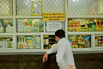 Indianness can be reclaimed by shopping at Patanjali stores. Photo: Pradeep Gaur/Mint