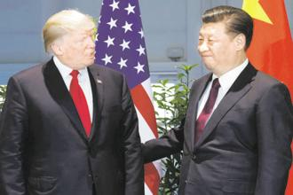 A file photo of US President Donald Trump and Chinese President Xi Jinping during G-20 Summit in Hamburg, Germany. Photo: AP