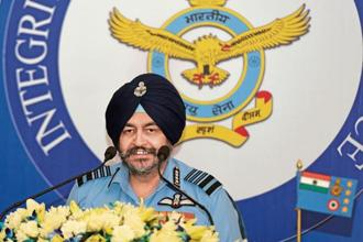 Air Chief Marshal Birender Singh Dhanoa. Photo: Sushil Kumar/HT.
