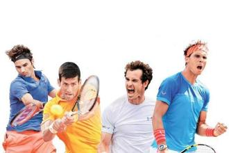 (From left) Roger Federer, Novak Djokovic, Andy Murray, and Rafael Nadal. Photo: Getty Images