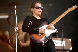 Anna Calvi performing at a music festival in France in July 2015. Photo: AFP