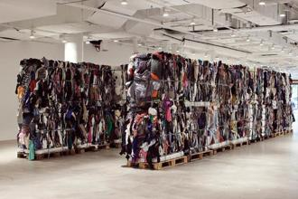'Waste', a used clothing installation by Maja Weiss, Vetements designer, for the Copenhagen International Fashion Fair.