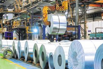 The broader message in raising the steel import duty is to address the trade deficit but benefits 'Make in India' as well by encouraging domestic steel production. Photo: Bloomberg