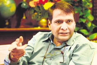 Civil aviation minister Suresh Prabhu. Photo: Pradeep Gaur/Mint
