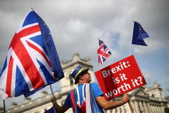 But the government is opposed to another referendum, while the main opposition Labour Party is not supporting the calls but also not ruling out the prospect. Photo: Reuters