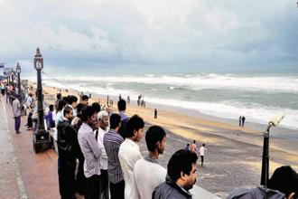 The cyclone is likely to hit coastal Andhra Pradesh around Thursday midnight. Photo: HT
