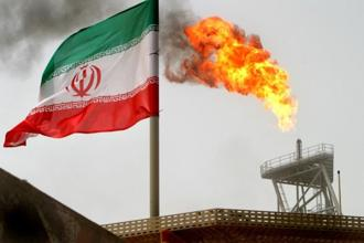 An Iranian flag is seen in the picture. India, Iran's leading oil client after China, is also developing the Chabahar Port in the Middle Eastern nation. File Photo: Reuters