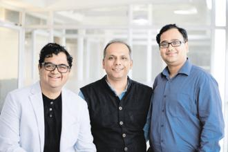 pi Ventures' founding partners (from the left) Umakant Soni and Manish Singhal, and partner Abishek Surendran. pi Ventures has made six investments so far, including in CustomerSuccessBox, Locus, SigTuple, NIRMAI, and ten3T.
