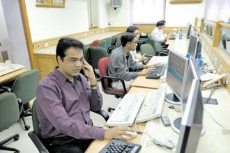 TCS, Infosys, Coal India and Reliance were among the top gainers, whereas Mahindra, IndusInd Bank, HDFC, Adani Ports and Bharti Airtel were among the major losers. Photo: Hindustan Times