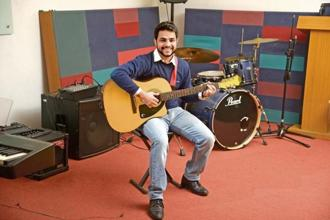 Kunal D'costa is a part-time singer who also works in public relations. Photo: Abhijit Bhatelkar/Mint