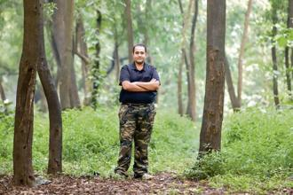Harshal Jain is a marketing professional who also conducts walks around the theme of biomimicry. Photo: Devendra Parab/Mint