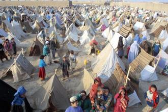 A refugee camp in Mazar-e-Sharif, Afghanistan, 2001.Photo: Getty Images