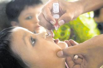 Traces of polio type-2 virus were found in some batches of oral polio vaccine manufactured by Ghaziabad-based Bio-Med Pvt. Ltd, posing a serious threat of polio resurfacing in India. Photo: AFP
