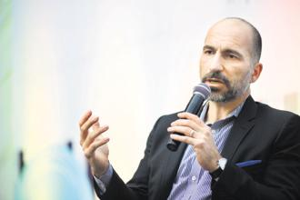 Dara Khosrowshahi was named CEO last year after Uber founder Travis Kalanick was ousted by investors in June following several scandals, internal and external. Photo: Pradeep Gaur/Mint