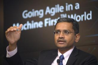 CEO Rajesh Gopinathan has exuded optimism that, save for any macroeconomic downside risk, TCS will clock double-digit growth in revenue this fiscal. Photo: Abhijit Bhatlekar/Mint