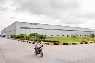 Shares of Aurobindo Pharma were trading at Rs 773.75 per scrip on the BSE, down by 0.58% from its previous close. Photo: Bloomberg