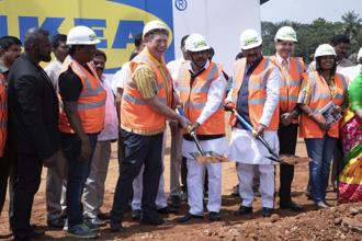 Ikea laid the foundation for its Bengaluru store on Thursday.