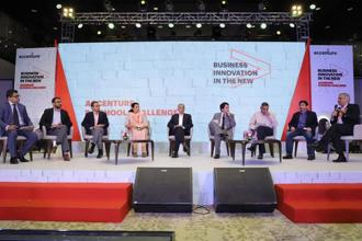 Panel Discussion on 'Business Innovation in the NEW'. Photo: Accenture