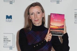 Irish writer Anna Burns took home the £50,000 prize for her third novel, 'Milkman'. Photo: AFP